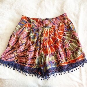 Band of Gypsies Floral Lace Shorts Multicolor EUC